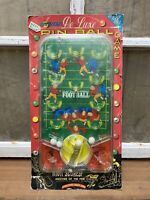 Vintage Pixie Toys Deluxe Football Pin Ball Game New In Box Old Childrens Decor