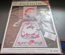 Permin Copenhagen Danish Cross Stitch Kit  Santa Calendar 34-5229 HTF Christmas