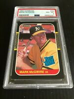 1987 DONRUSS #46 MARK McGWIRE RATED ROOKIE ATHLETICS PSA 8 CARDINALS NM-MT
