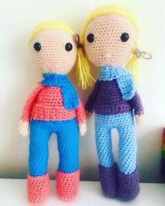 Handmade Crochet Dolls -Soft Toy-Unique Gift Customisable,Fairytale- Pick Colour