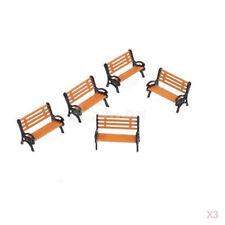 5 x Model Train OO HO 1:87 bench chair settee Garden park layout scenery railway