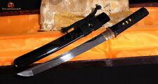 Tanto Real Clay Tempered Blade Full Handmade Japanese Samurai Sword Battle Sharp