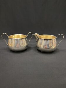 Pointed Antique by Reed Barton D&H Sterling Silver Sugar, Creamer 2pc
