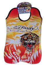 Ed Hardy Double Tote Koozie Cooler, 2 Sleeves a Holder for Wine Water Bottles
