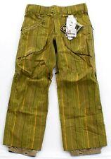 Burton Gore Tex Soft Shell Pant Green Stripe Snowboard Ski Snow Pants Men's NWT