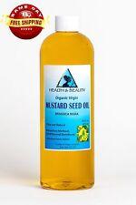MUSTARD OIL UNREFINED ORGANIC by H&B Oils Center COLD PRESSED PREMIUM PURE 16 OZ