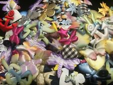 300 Assorted Fabric Applique Mix Bag/Flower/Butterfly/Embellishment/Sewing