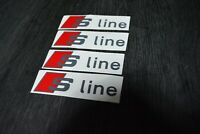 4 Pegatinas sticker decal brake caliper Audi Sline pinzas freno 8 cm x 2,2 cm