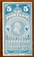 [KN]  US Scott  #PR5 [NGAI] 1865 5c Issue Newspaper & Periodical Stamp