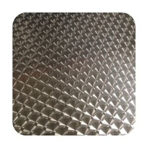 "6"" x 31"" Engine Turned Aluminum Sheet Metal Panel - Swirled Dash Guage Material"