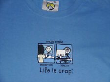 Unisex T Shirt LIFE IS CRAP Size Small ONLINE DATING: PERCEPTION VS. REALITY