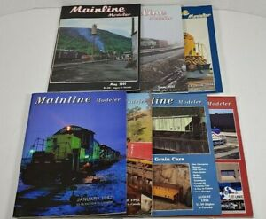 Mainline Modeler Magazine Lot Of 7 1991 - 1994