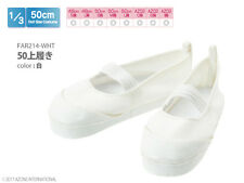 Azone 50cm Outfits Indoor Shoes White fit Obitsu 48/50cm body AZO2