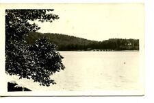 Scenic Water View-Bridge-South ? Maine-1931 RPPC-Vintage Real Photo Postcard