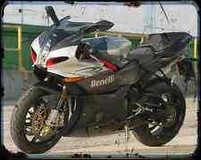 BENELLI Tornado Tre 1130 08 3 A4 Metal Sign moto antigua añejada De