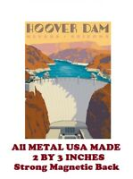SM244- Hoover Dam Travel Poster 2 by 3 Inch Metal Refrigerator Magnet