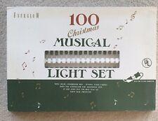 Everglow 100 Musical Christmas Light Set White NOS
