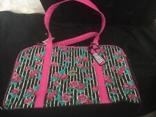 BETSEY JOHNSON ROSE FLORAL HOT PINK WEEKENDER BAG, CARRY ON, OVERNIGHT BAG NWT
