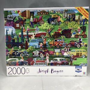 "Milton Bradley Joseph Burgess Antique Car Show 2000 pc Puzzle 32""x 24"" NIB"