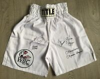 4 KINGS, signed boxing trunks