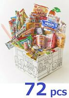 Japanese Puffed Snack + Candy Box set 72pcs Dagashi Assortment