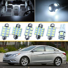 6PCS Bulbs White LED Car Interior Lights Package kit Fit 2013-2016 Dodge Dart J1