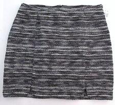 THREE DOTS Extra Large BLACK Woven Metallic Scalloped Skirt $180.00 NWT New XL
