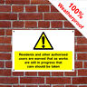 Residents care Health and safety signs CONS068 extremely durable & weatherproof