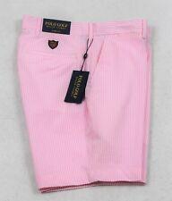 Ralph Lauren Polo Golf Shorts Pink Stripe Seersucker Size 32 34 NWT $99