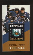Washington Capitals & Wizards--1997-98 Pocket Schedule--Oates/Bondra/Richmond