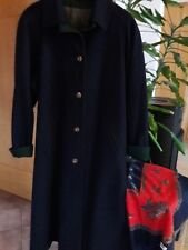 Lodenfrey Damen Lodenmantel Gr. 42 blau Winter Loden Wolle Mantel Wollmantel