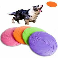 Dog Toy Soft Rubber Interactive Bite Resistance Pet Puppy Frisbee Flying Discs