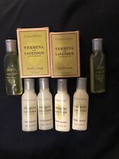 CRABTREE EVELYN Verbena Lavender Shampoo Conditioner Body Lotion Soap Lot Travel
