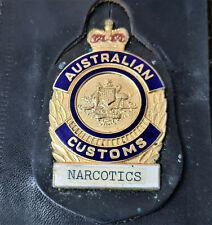 OBSOLETE AUSTRALIAN CUSTOMS NARCOTICS UNIFORM POCKET ID BADGE WALLET