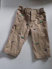 GYMBOREE pants Cars Vans beige khaki boys pair of pants Sz 6-12 months