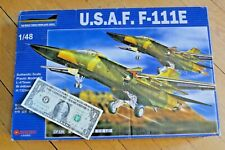 Usaf F-111E 1/48 Scale Us Air Force Fighter Bomber Airplane Plane Model Kit
