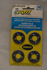 Vintage Flippy Crescent Toy 96 Shots Cap Gun Refill 4 Discs Made in Italy 1985