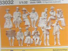 Lokführer u.Reisende um 1900 -12 Preiser Figuren Spur 1 - 1:32 unbem. 63032  #E