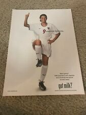 Vintage 1999 MIA HAMM GOT MILK? Poster Print Ad WOMEN'S SOCCER TEAM USA USWNT