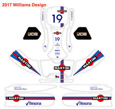 NEW 2017 Benz Mclaren Williams F1 Kart Decal for Birel CRG Tony Kart  Freeline