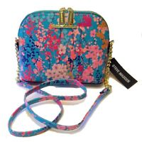STEVE MADDEN Turquoise Blue Floral Crossbody Bag Gold Chain Shoulder Handbag NWT