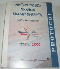 2000 World Figure Skating Championships Ex Protocol - Scarce