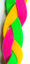 NEW! Pink Yellow Neon Grippy Band Headband Hair Sport Soccer Softball Stretch