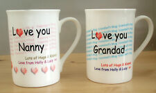 Personalised Bone China Mug, Personalised Nanny Grandad mug, Any name mug