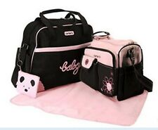 5Pcs Carter's Baby Changing Diaper Nappy Bag Mummy Shoulder Handbag Pink/Brown