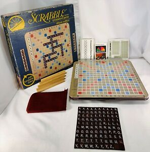 1982 Deluxe Scrabble Game Complete in Very Good Condition FREE SHIPPING