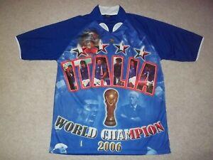 Rare 2006 Italy Italia World Cup World Champion Blue One Size Drako Jersey Shirt