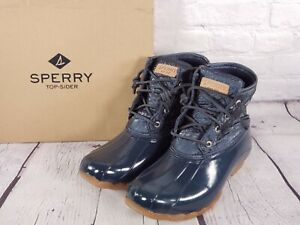 Sperry - Nylon Quilted Saltwater Duck Boot - Navy Blue