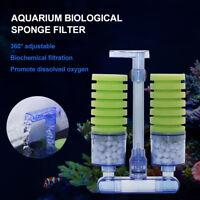 Aquarium Bio Filter Air pump Driven Sponge Filter Oxygen Pump Fish Tank Filter