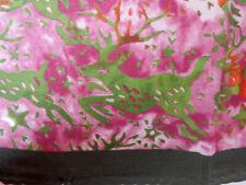 "Giada Silk Cotton Vtg Square Scarf 21.5"" Jacob Cohen Italy Deer Pink Green Gray"